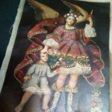 Arte: *ANGEL DE LA GUARDA. ESCUELA CUZQUEÑA. (RF:G/A*). Lote 191308082
