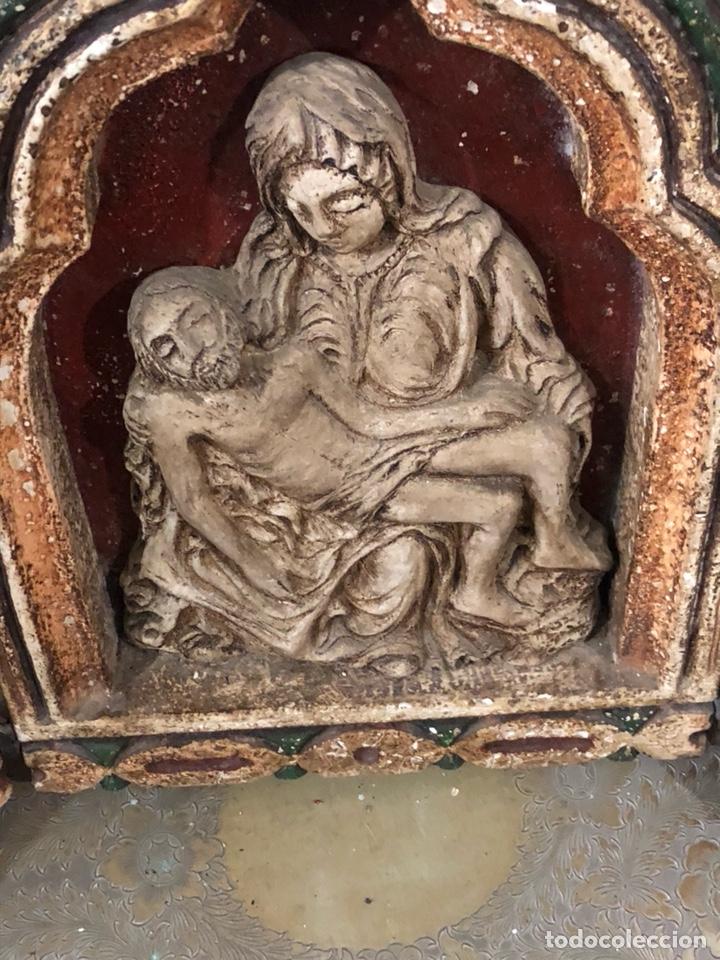 Arte: Bonito tríptico echo en resina prensada, años 50-60 - Foto 2 - 191469097