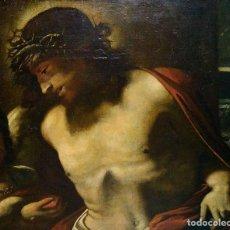 Arte: CRISTO CORONADO DE ESPINAS. ÓLEO SOBRE LIENZO. ESCUELA ROMANA. ITALIA. SIGLO XVII. Lote 191476161