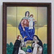 Arte: NUESTRA SRA DEL ROSARIO CERAMICA VALENCIANA V. AGUILELLA VIDAL MEDIADOS S.XX. Lote 191529581