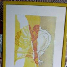 Arte: LÁMINA ENMARCADA DEL ARTISTA PEPE DÁMASO, AÑO 99 . Lote 191599121