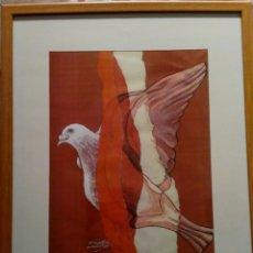 Arte: LÁMINA ENMARCADA DEL ARTISTA PEPE DÁMASO, AÑO 99 . Lote 191599258