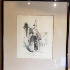 Arte: ANTIGUO GRABADO / MAGO MR. PHILIPPE - PHYSICIEN CHINOIS / IMP. D'AUBERT & CIE / ENMARCADO.. Lote 191692805
