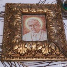 Arte: PEQUEÑO MARCO CON DIBUJO ORIGINAL, DIBUJO PIO X, ANTIGUO MARCO XIX, PEQUEÑO MARCO, MARCO FRANCÉS. Lote 191694105
