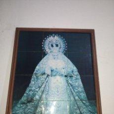 Arte: CUADRO CON AZULEJOS RETABLO VIRGEN FOTO DIEGO ROMERO SEMANA SANTA JEREZ 1990 . Lote 191703841