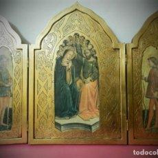 Arte: TRIPTICO ANTIGUO DE MADERA 45 X 60 PRECIOSO. Lote 191778670