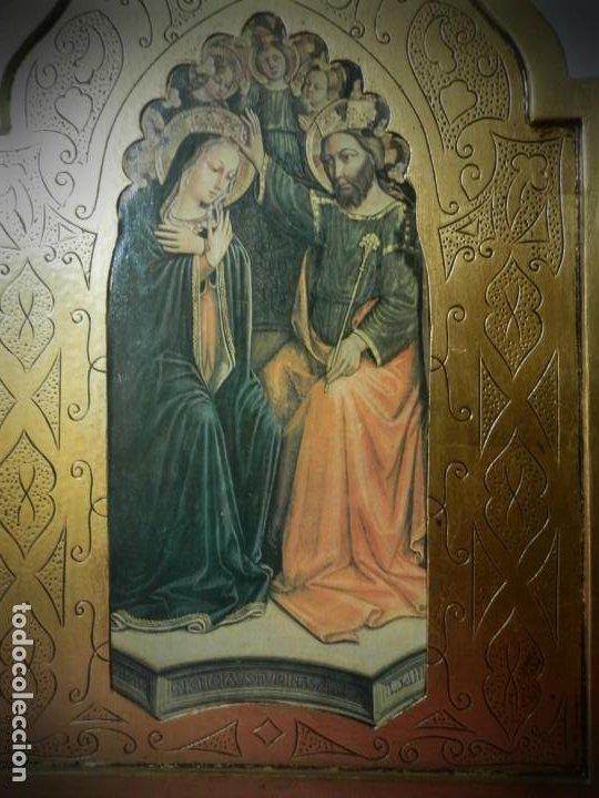 Arte: TRIPTICO ANTIGUO DE MADERA 45 X 60 PRECIOSO - Foto 3 - 191778670