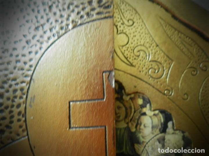 Arte: TRIPTICO ANTIGUO DE MADERA 45 X 60 PRECIOSO - Foto 6 - 191778670