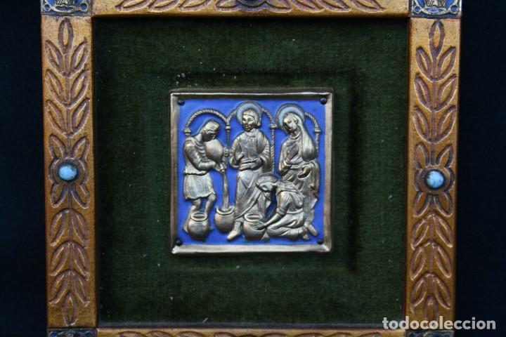 MODEST MORATÓ. BONITO ESMALTE CON ESCENA BIBLICA, TIENE EL SELLO DE MORATO. (Arte - Arte Religioso - Escultura)