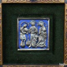 Arte: MODEST MORATÓ. BONITO ESMALTE CON ESCENA BIBLICA, TIENE EL SELLO DE MORATO.. Lote 191910345