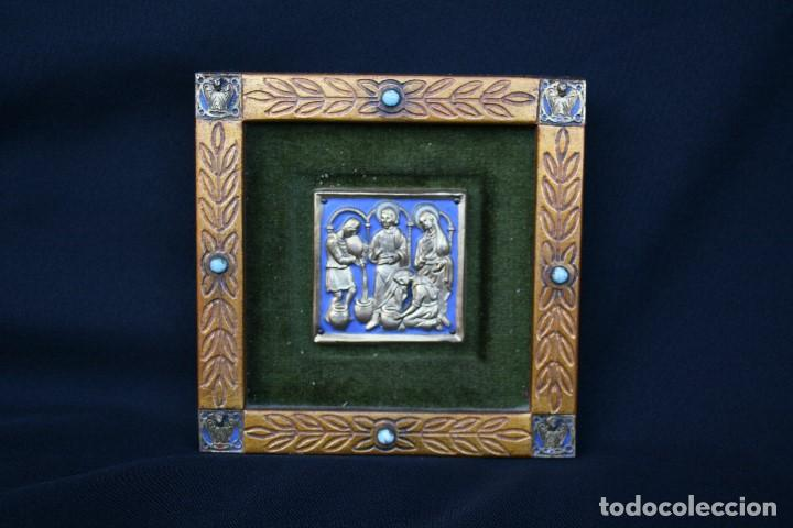 Arte: modest Morató. bonito esmalte con escena biblica, tiene el sello de morato. - Foto 2 - 191910345