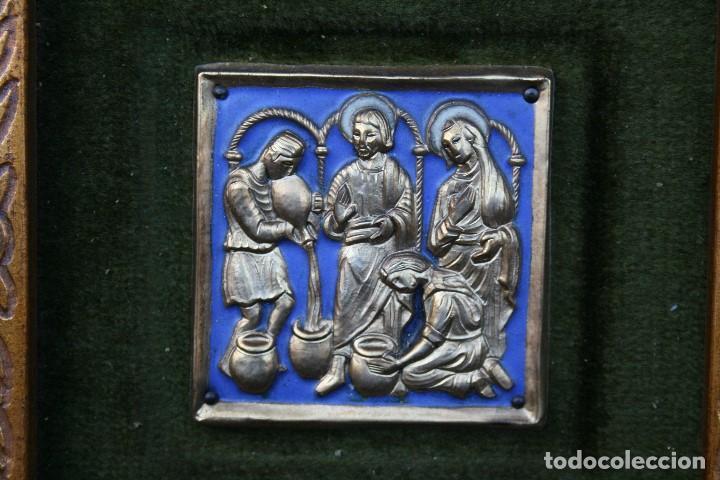 Arte: modest Morató. bonito esmalte con escena biblica, tiene el sello de morato. - Foto 3 - 191910345