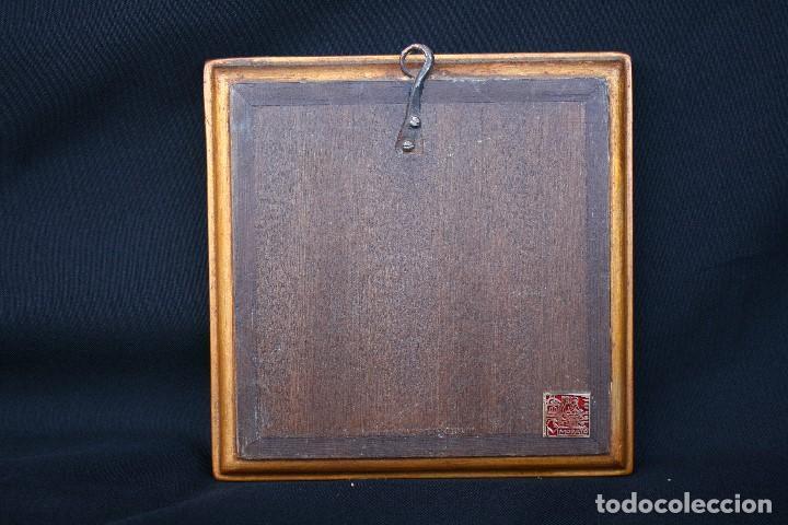 Arte: modest Morató. bonito esmalte con escena biblica, tiene el sello de morato. - Foto 4 - 191910345