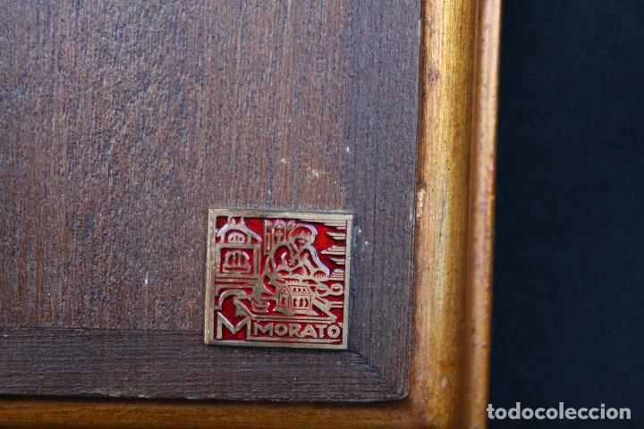 Arte: modest Morató. bonito esmalte con escena biblica, tiene el sello de morato. - Foto 5 - 191910345