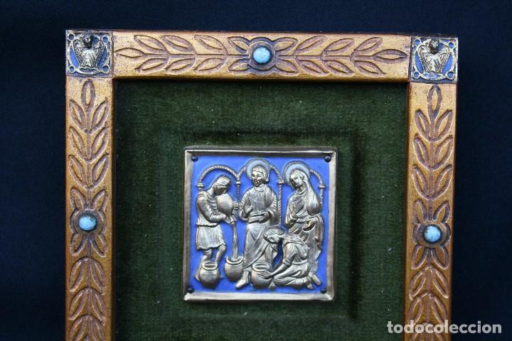 Arte: modest Morató. bonito esmalte con escena biblica, tiene el sello de morato. - Foto 6 - 191910345
