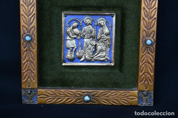 Arte: modest Morató. bonito esmalte con escena biblica, tiene el sello de morato. - Foto 7 - 191910345