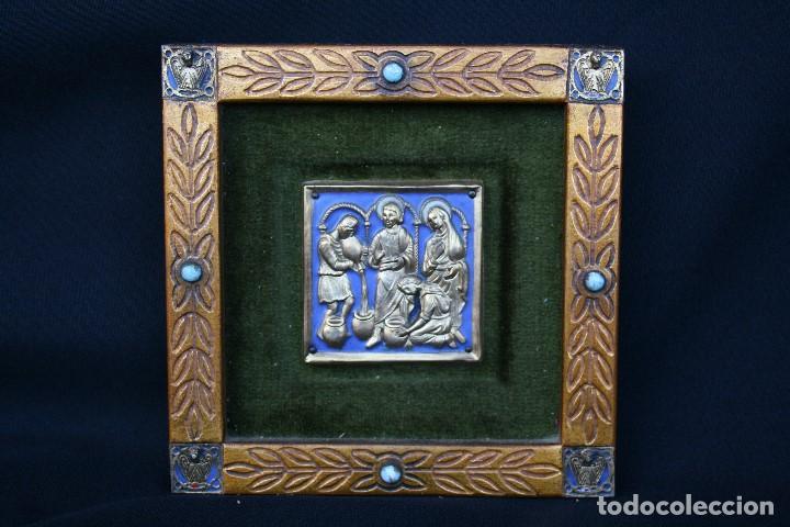 Arte: modest Morató. bonito esmalte con escena biblica, tiene el sello de morato. - Foto 8 - 191910345