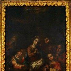 Arte: NATIVIDAD. ADORACIÓN DE LOS PASTORES (?). ÓLEO SOBRE LIENZO. ESPAÑA. XVII-XVIII. Lote 192133565