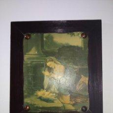 Arte: ANTIGUO CUADRO VIRGEN MARÍA Y NIÑO JESÚS ÓLEO ? VER FOTOS. Lote 192143322