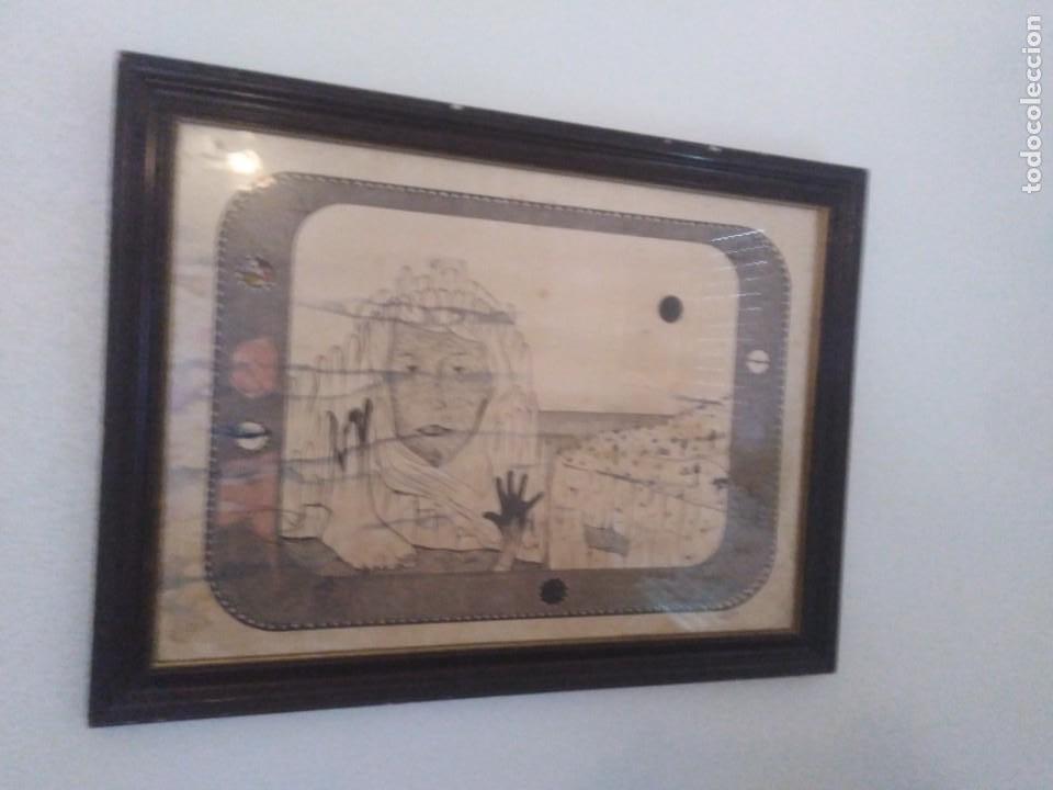 ANTIGUO DIBUJO A PLUMILLA FIRMADO (Arte - Arte Religioso - Pintura Religiosa - Otros)