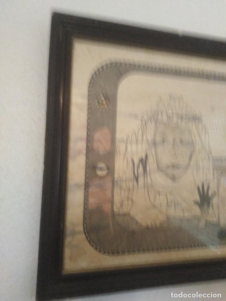 Arte: Antiguo dibujo a plumilla firmado - Foto 2 - 192152687