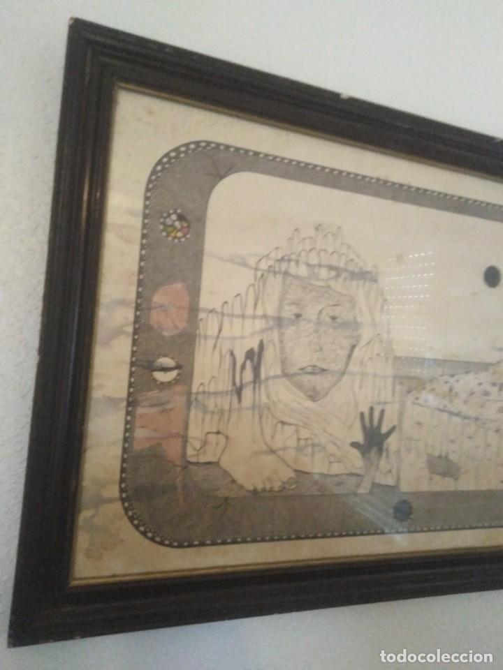 Arte: Antiguo dibujo a plumilla firmado - Foto 3 - 192152687