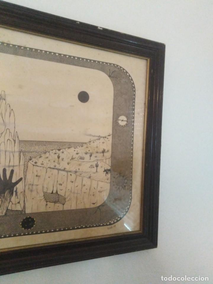 Arte: Antiguo dibujo a plumilla firmado - Foto 4 - 192152687
