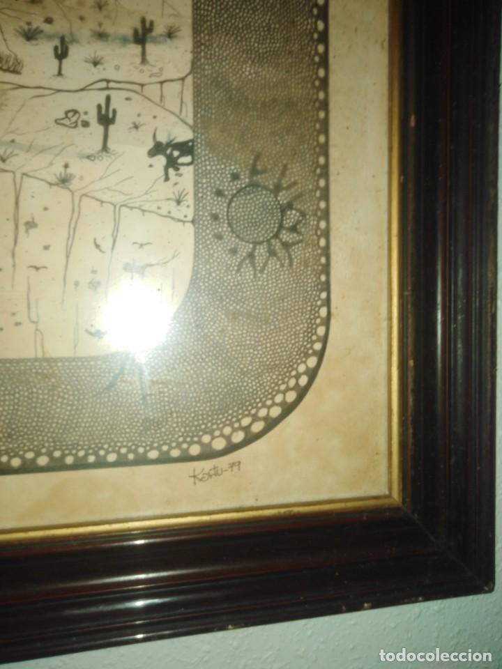 Arte: Antiguo dibujo a plumilla firmado - Foto 5 - 192152687