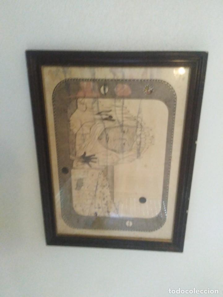 Arte: Antiguo dibujo a plumilla firmado - Foto 6 - 192152687