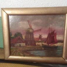 Arte: ANTIGUO PINTURA EN CARTÓN REF 0183. Lote 192197083