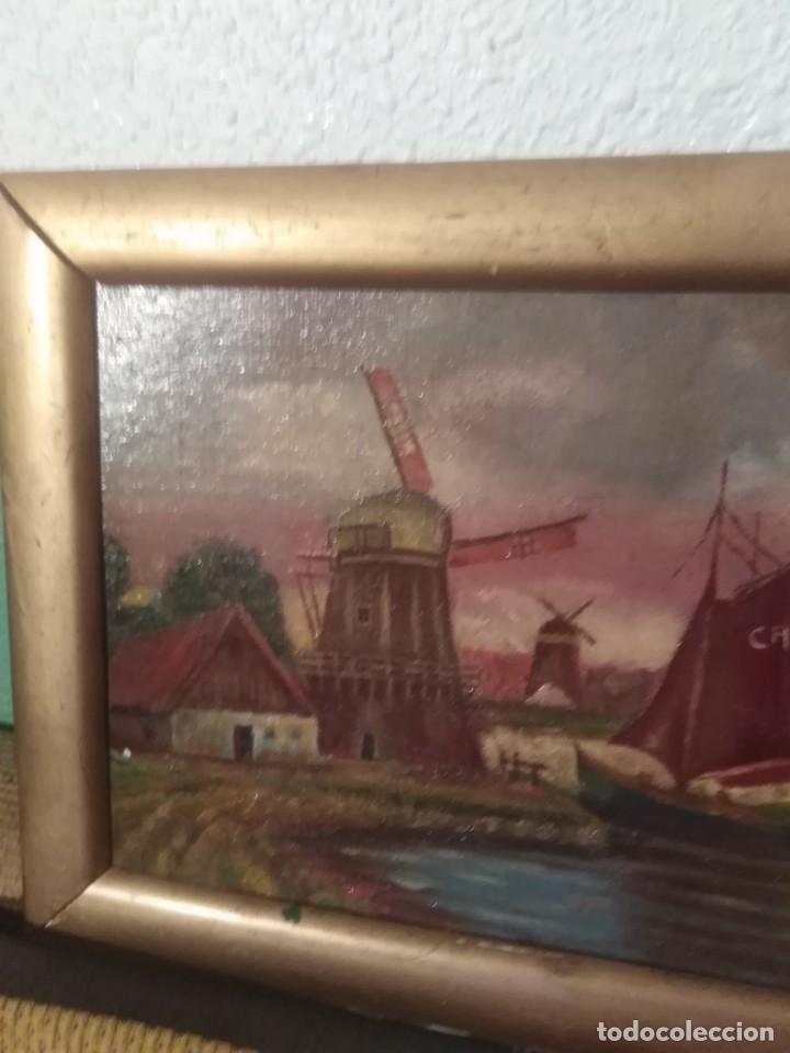 Arte: Antiguo pintura en cartón ref 0183 - Foto 2 - 192197083