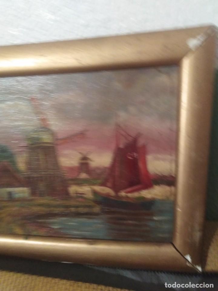Arte: Antiguo pintura en cartón ref 0183 - Foto 3 - 192197083