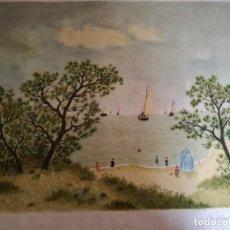 Arte: LITOGRAFÍA.MAURICE GHIGLION-GREEN. PINTOR FRANCÉS (1913-1989). MEDIDAS DE LA LITOGRAFÍA: 41 X 33 CMS. Lote 192262487