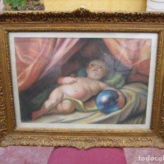 Arte: ANTIGUO DIBUJO AL PASTEL DE NIÑO. Lote 192388102