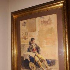 Art: INTERESANTE ACUARELA TAURINA DE DIEGO MARÍN. GRANADA. Lote 192492703
