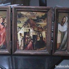 Arte: ICONO TRÍPTICO PRESENTACIÓN DE JESÚS EN EL TEMPLO. LA ADORACIÓN DE LOS REYES MAGOS. EL BOSCO.. Lote 192500167