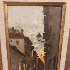 Arte: ENRIQUE MARÍN. OLEO DE LA CALLE ELVIRA. GRANADA. Lote 192666783