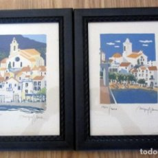 Art: DOS LITOGRAFIAS ENMARCADAS MIQUEL PLANA 1240/2000 Y 862/2000 HOTEL EMPORDA FIGUERES ALMADRABA ROSES. Lote 192706435