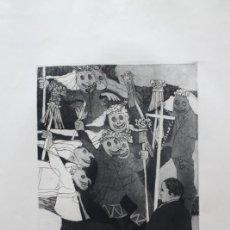 Arte: GRABADO AL AGUAFUERTE DE FIESTA DE MÁSCARAS.. Lote 192805196