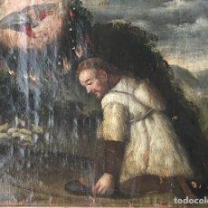 Arte: ANTIGUO ÓLEO SOBRE LIENZO - PINTURA RELIGIOSA - APARICIÓN DE DIOS A MOISES - SIGLO XVII. Lote 192781018