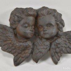 Arte: ANTIGUOS ANGELES ANGELITOS EN HIERRO PUTINS SIGLO XIX XX ROMANTICOS 19X33X5 CM 243 EU.. Lote 192899545