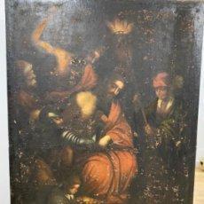 Arte: CORONACION DE ESPINAS, OLEO SOBRE LIENZO XVII. Lote 193029250