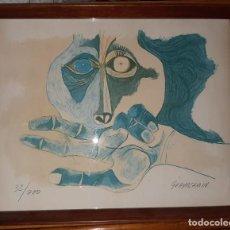 Art: OSWALDO GUAYASAMÍN. LA MIRADA (1983) LITOGRAFIA. Lote 193035325
