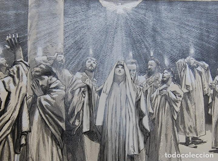 Arte: PENTECOSTES ( ESPÍRITU SANTO) - FRANZ GAILLIARD (Bélgica, 1861-1932) - Foto 4 - 27956513