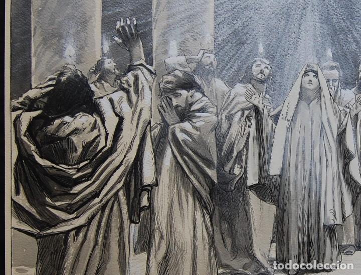Arte: PENTECOSTES ( ESPÍRITU SANTO) - FRANZ GAILLIARD (Bélgica, 1861-1932) - Foto 5 - 27956513