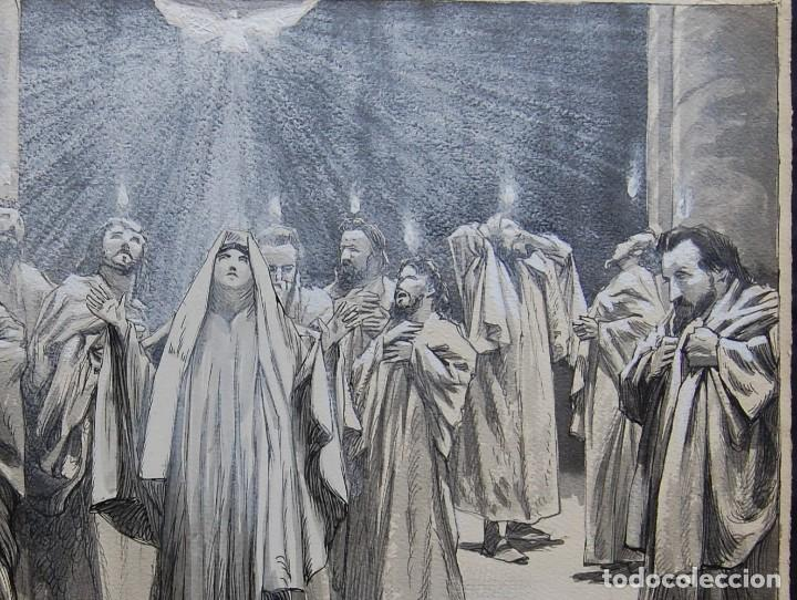 Arte: PENTECOSTES ( ESPÍRITU SANTO) - FRANZ GAILLIARD (Bélgica, 1861-1932) - Foto 6 - 27956513