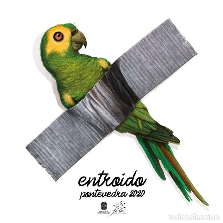 ILUSTRACIÓN RAVACHOL ENTROIDO PONTEVEDRA 2020 - KIKO DA SILVA (Arte - Arte Religioso - Pintura Religiosa - Acuarela)