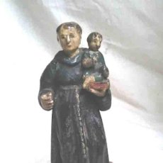 Arte: SAN ANTONIO S XIX TALLA MADERA POLICROMADA. MED. 24 CM. Lote 193295530