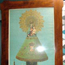 Arte: CROMOLITOGRAFIA, SOBRE TELA, VIRGEN DEL PILAR, 1 METRO X 70 CM ENMARCADA. W. Lote 193308467