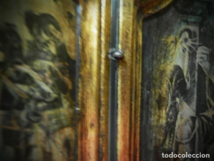 Arte: TRIPTICO DE MADERA VISAGRAS CON ARGOLLA. MUY BONITO 40 X 51 - Foto 4 - 193637512
